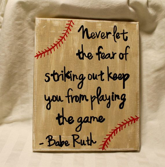 Hand painted canvas sign with Babe Ruth by CoastieGirlDesigns