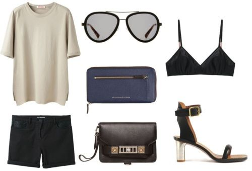 t by alexander wang shirt, 3.1 phillip lim sunnies, t by alexander wang shorts, proenza schouler bag, celine shoes, 3.1 phillip lim braPhillip Lim, Fashion Editing, Knights Cat, Celine Shoes, Good, Alexander Wang, Fashion File, Wang Shorts Proenza, Style Fashion
