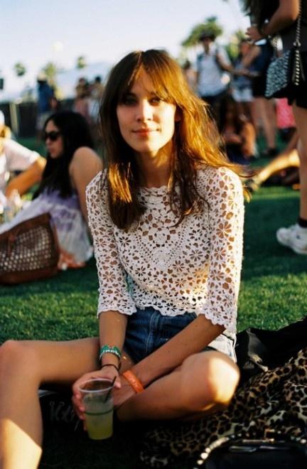 - current/elliott the high waist distressed denim shorts - topshop floral lace crop top - black high tops