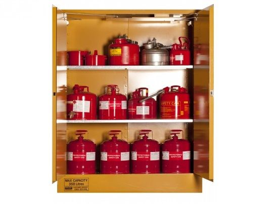 Flammable Liquids Storage Cabinets- 350 litre-5560AS| Spacepac Industries online Store.