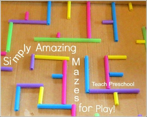 Check out this tutorial on how to make a simple large box maze that will invite your preschoolers to play!