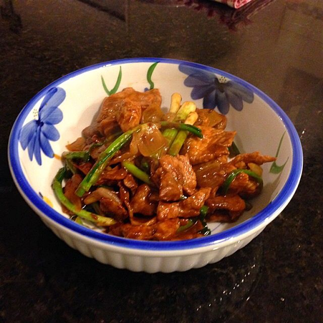 Stir Fry Pork with Spring Onions and Ginger Recipe - coasterkitchen - Dayre