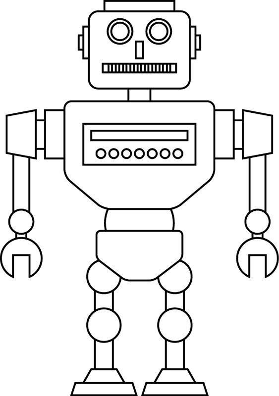 Un robot en 2020 | Dessin a imprimer, Robot, Coloriage