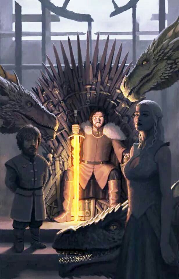 """""""The happy ending"""", but I think I'd prefer Daenerys on the throne herself... Wishful thinking."""