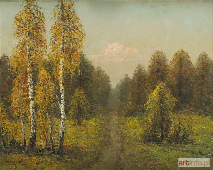 Wiktor KORECKI ● Pejzaż z brzozami ●