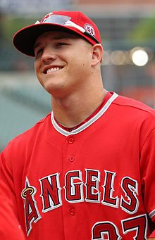 Mike Trout... named Baseball America's 2012 Player of the Year and Rookie of the Year! Trout is the first player to win both awards in the same season, and the first Angel to win either award. (And he's a cute young thing too!)