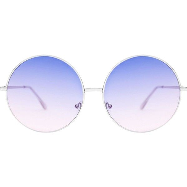 SKINNYDIP Stella rose gold metal round sunglasses ($32) ❤ liked on Polyvore featuring accessories, eyewear, sunglasses, metal glasses, round metal sunglasses, octagon sunglasses, lens glasses and metal sunglasses