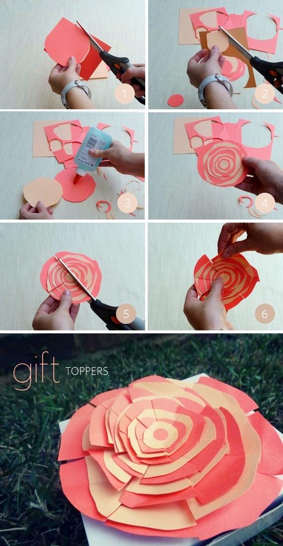 DIY: gift topper flowersDoityourself Gift, Creative Handmade, Gift Wraps, Diy Gifts, Simple Gift, Handmade Gift, Gift Creative, Gift Toppers, Crafty Ideas