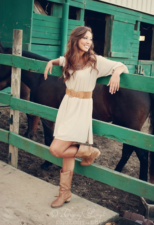 Country Girl High School Senior Portraits #session #inspiration #ideas #props #accessories #poses #photography #photographer #horses #stables Tracey Leigh Photography dot com.