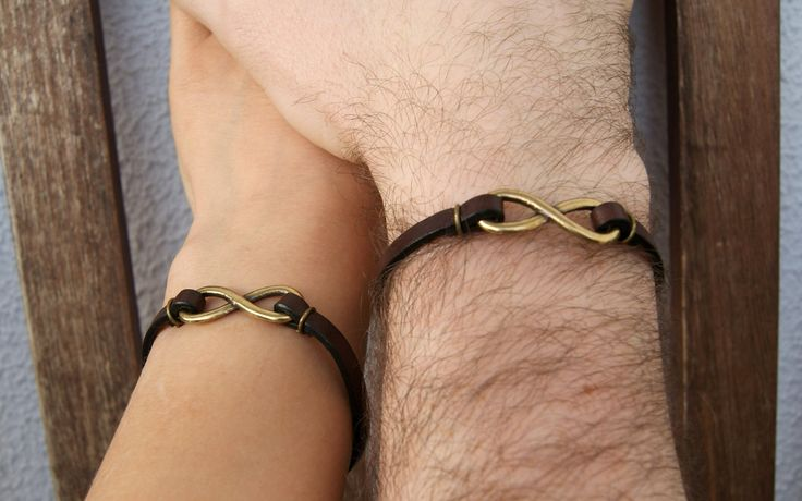 Couples Infinity Matching Leather Bracelets Long Distance Girlfriend Boyfriend Gift