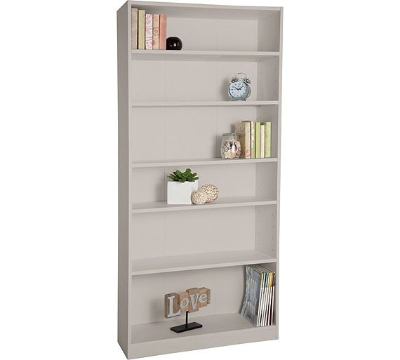 Buy HOME Maine Tall Wide Extra Deep Bookcase - Putty at Argos.co.uk - Your Online Shop for Bookcases and shelving units, Bookcases, shelves and DVD storage, Storage, Home and garden.