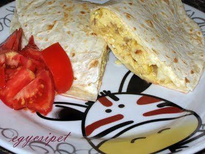 egycsipet: Tojásreggeli tortillában