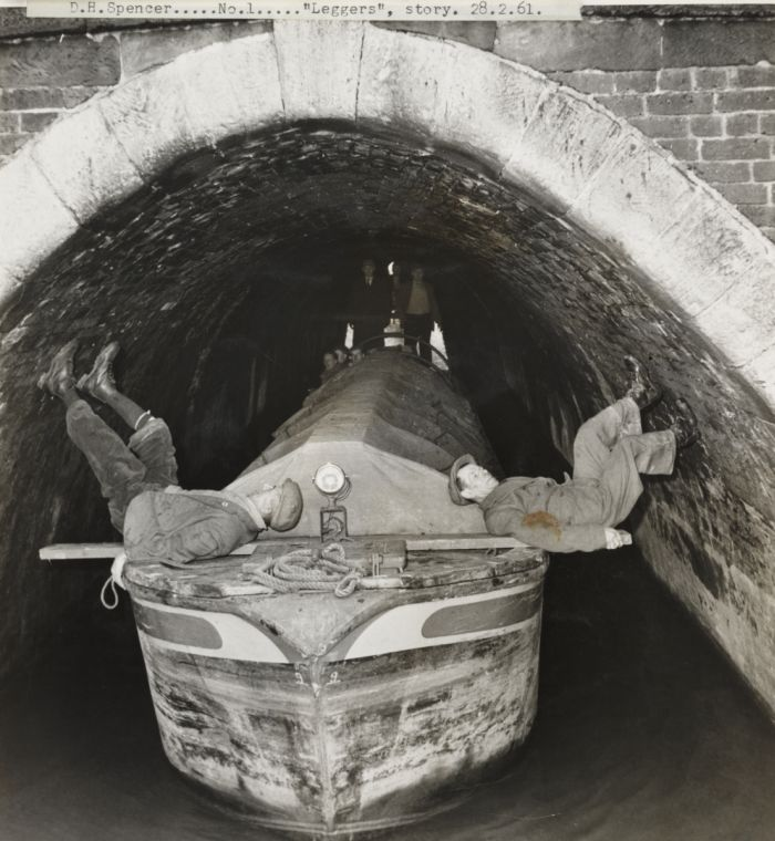Legging is a method of moving a boat through a canal tunnel or adit containing water. Early canal tunnels were built without a towpath as this would require a much larger bore, and hence cost more to build. Prior to the introduction of motorised boats, legging was one of the few options for getting a boat through such a tunnel.