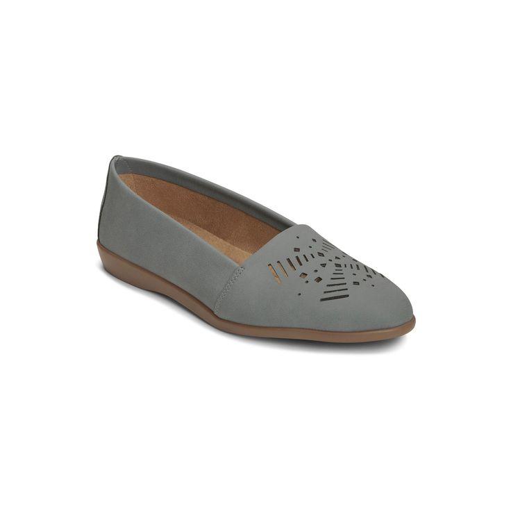 Women's A2 by Aerosoles Trend Right Laser Cut Wide Width Loafers - Blue 10.5W, Size: 10.5 Wide