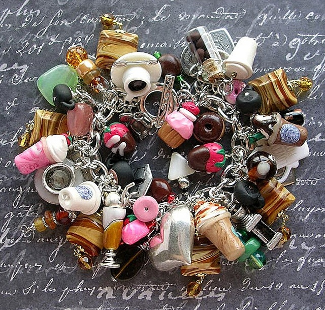 My Starbucks Coffee Charm Bracelet by thevintageheart, for Mayhem Monday. I am all for Starbucks ANYTHING!