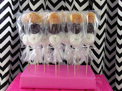Donut Skewers - for a pajama party