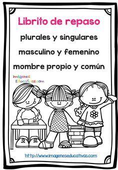 Mi librito de repaso, masculino y femenino, singular plural, etc….