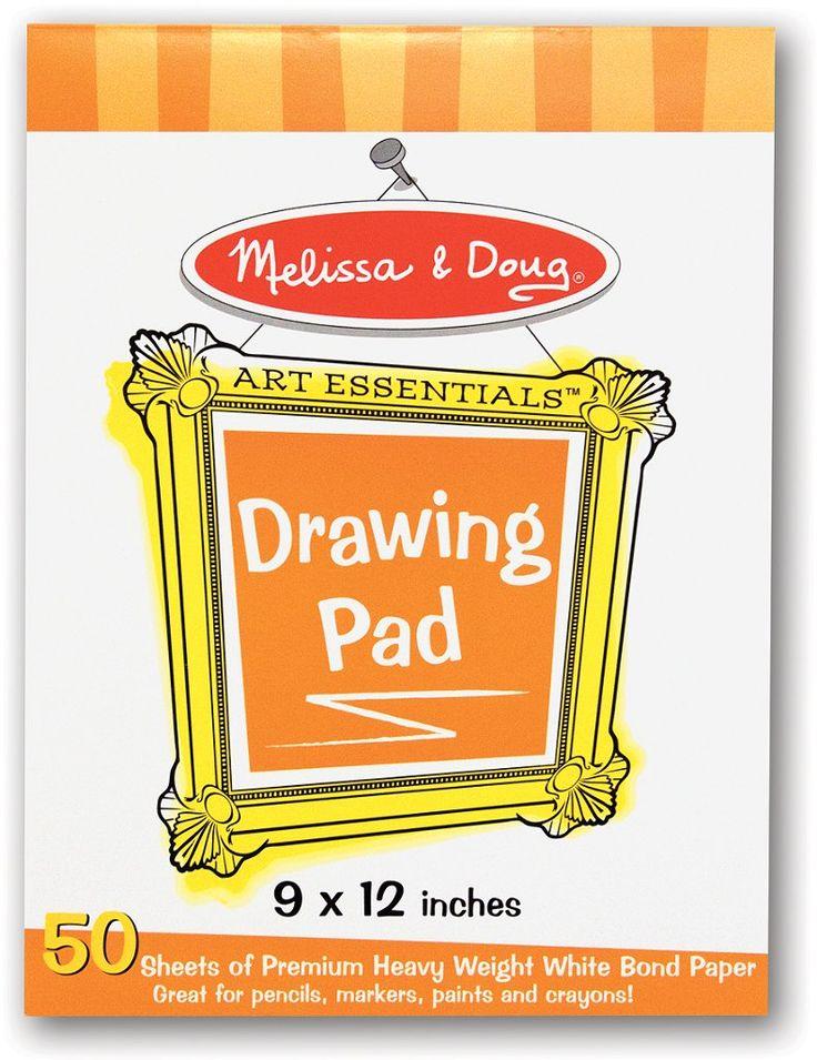 "Melissa & Doug Drawing Pad (9""x12"") (Case of 4)"