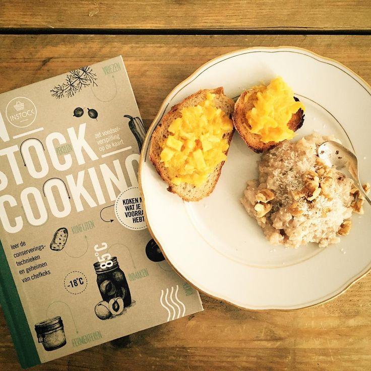 Happy Kingsday!Eerste poging zelfgemaakte jam en rijstontbijtje ☺️ mnomnomnom @instock_nl #instockcooking #kookboek #nowaste #goedbeginvandedag
