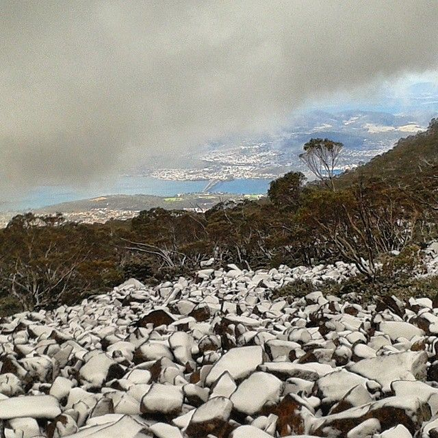 Looking out over the snow on Mt Wellington via http://buff.ly/1KL3rAM?utm_content=bufferf035e&utm_medium=social&utm_source=pinterest.com&utm_campaign=buffer #Tasmania #Travel #Snow