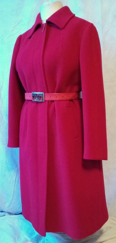 ALESSANDRA beautiful womans red 100% wool coat size 18 / 46 /164           #ALESSANDRA #BasicCoat
