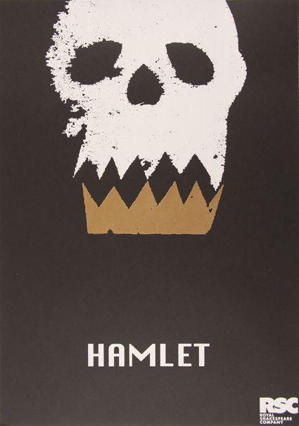 Hamlet Shakespeare poster for RSC - Lauren Heath