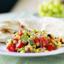 Spicy Chicken Quesadillas with Black Bean & Corn Salad » The Fresh Fridge