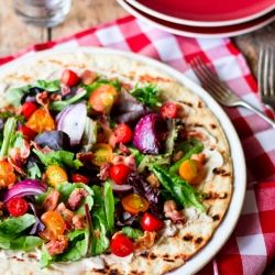 Grilled Flatbreads With Apples, Bacon, And Onion Recipes — Dishmaps