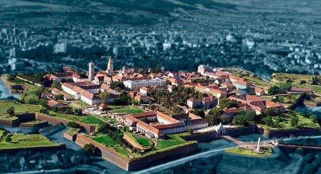 Cetatea Alba Carolina, văzută de sus