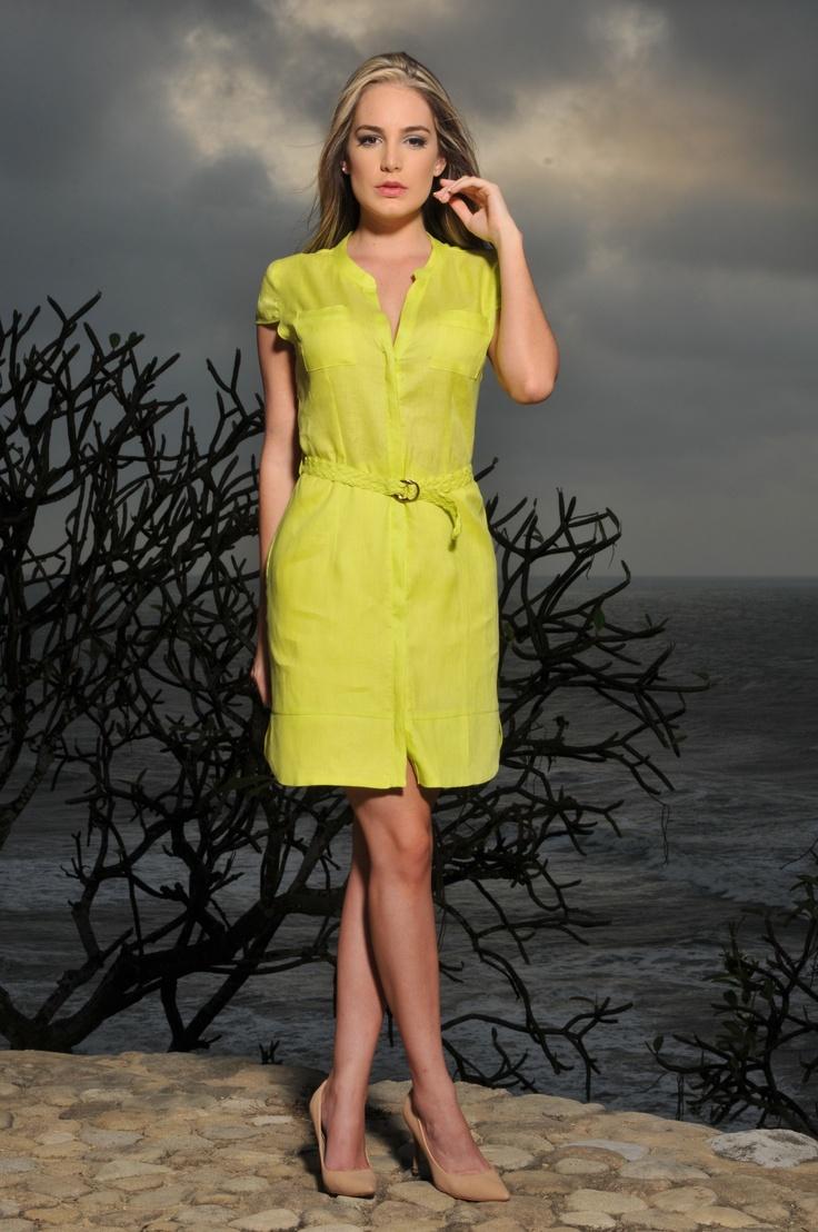 Vestido Verde Lima Lime Dress Moda Color Wear Hermoso