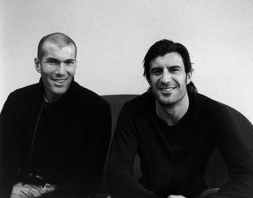 I miss these guys in Real Madrid. Zinedine Zidane and Luis Figo. Legends