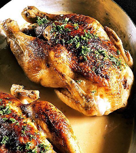 Ugnsstekt hel kyckling | Recept från Köket.se