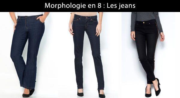 On préfère les jeans bootcut, droit ou slim de couleur brute pour le travail et délavée pour le week end.
