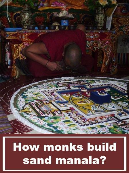 Did you know how buddhist monks build sand mandala inside monastery? More: http://www.pathismygoal.com/how-buddhist-monks-build-sand-mandala/