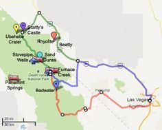 Death Valley Map: Death Valley may be in California, but it's closer to Las Vegas than you think.