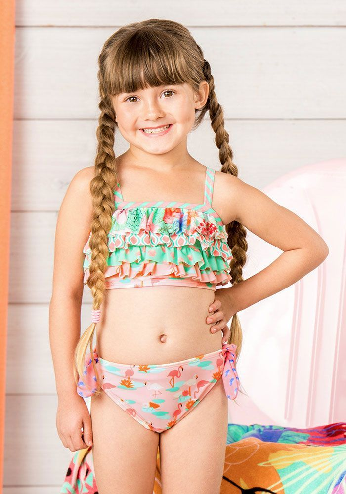 93d3ad08f11 Jump On In Swim Bottoms - Matilda Jane Clothing - A pink flamingo pattern  makes these bottoms something special, while patterned ties at the hip to  add that ...