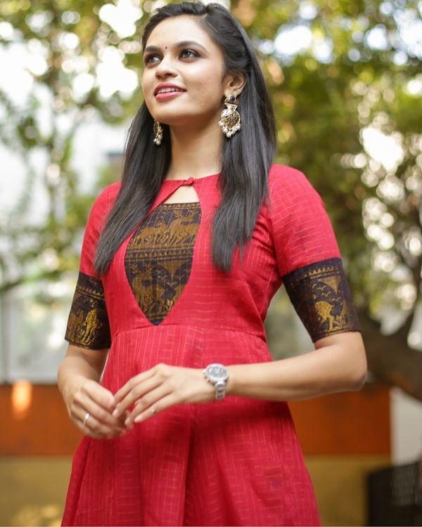 Shop Raspberry Anarkali Dress Dress Neck Designs Designs For