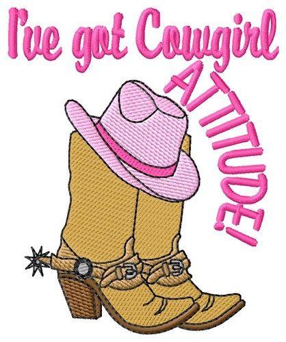 Cowgirl Attitude embroidery design