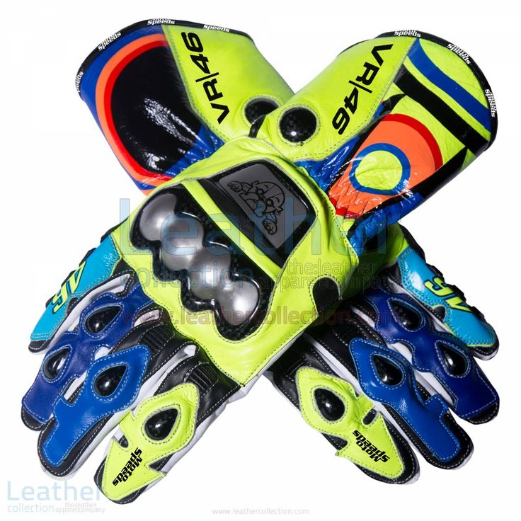 Valentino Rossi 2016 MotoGP Race Gloves for $250.00 - https://www.leathercollection.com/en-we/valentino-rossi-2016-motogp-race-gloves.html