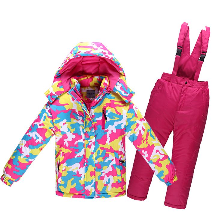 Children's Winter Ski Suit Minus 30 Degree Thick Warm Waterproof Windproof Girls Clothing Set Boys Outdoor Cotton Sports Clothes #Affiliate
