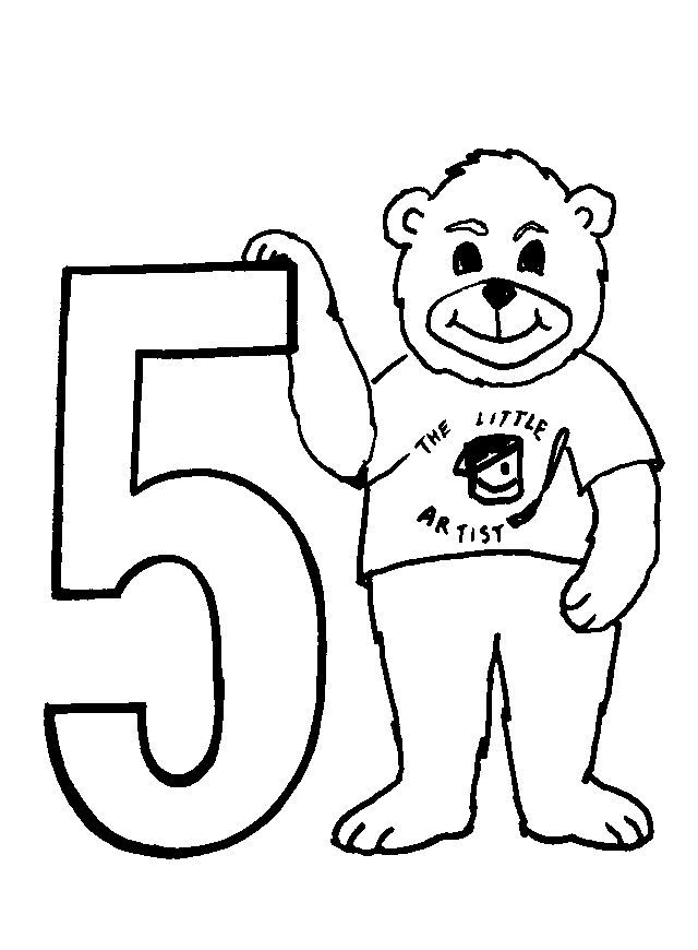 Animal Numbers Five Bears