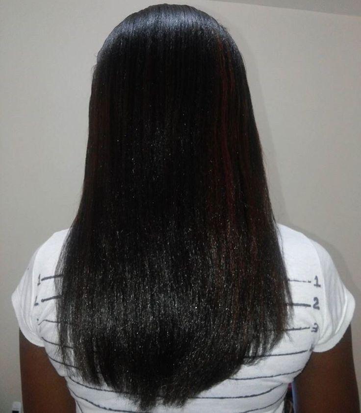 Long relaxed hair