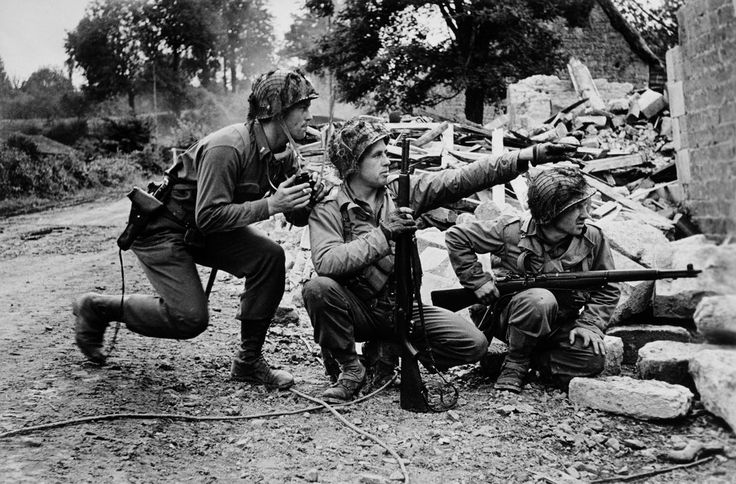 Near St. Lô. July 26th, 1944. American soldiers. Capa
