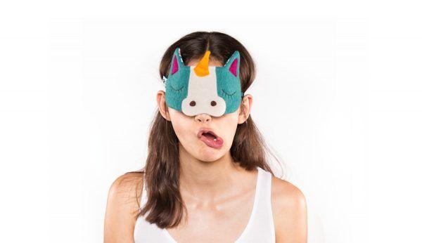 Un masque de nuit licorne, pour des rêves pailletés