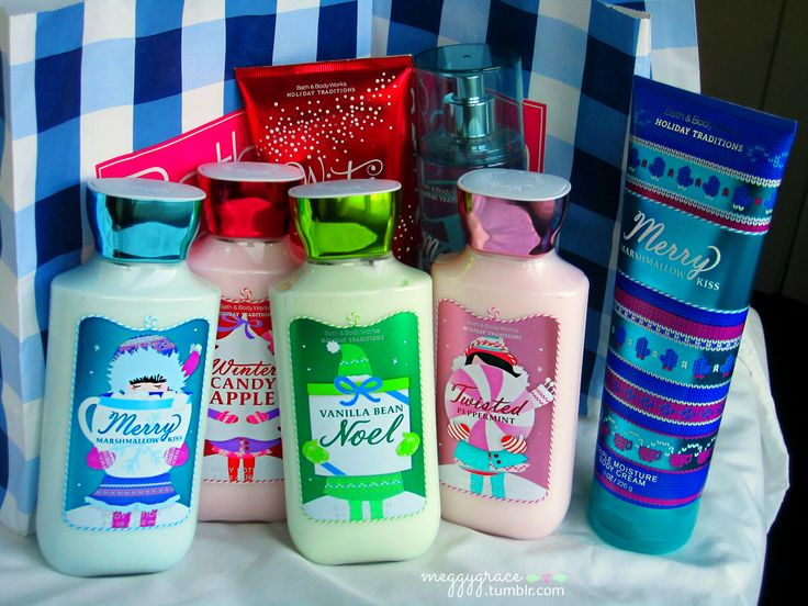 Stocking stuffers So lotion is an awesome thing for stocking stuffers!!  And since it is Christmas, I'm into cool Christmas lotion ( bath and body works)
