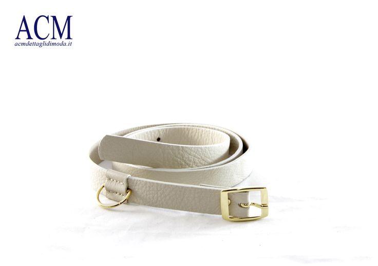 Cintura donna in vera pelle con mezzo anello #woman #leather #belt