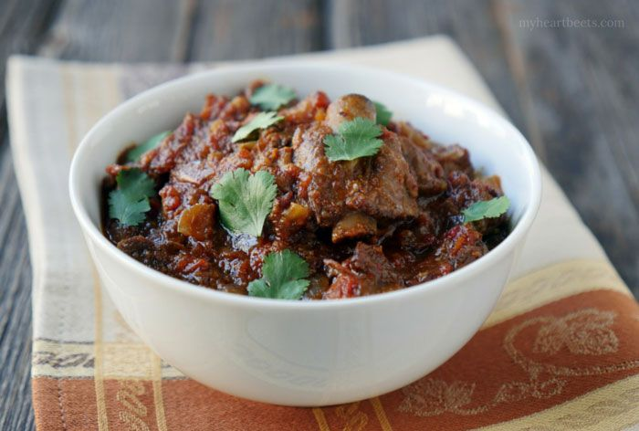 Whenever I make this slow cooker goat curry, I make sure to relish each and every bite of it. It disappears quickly around here. The sauce is full of flavor and the meat, when cooked slow, becomes perfectly tender and juicy.