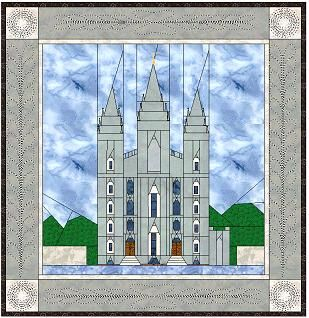 Paper pieced SLC Temple. This site has patterns for nearly every single LDS temple! Amazing!