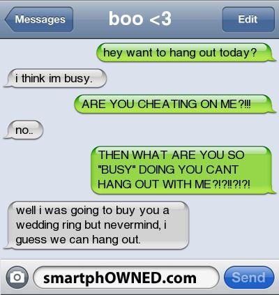 Hahaha- that's what should always happen to an overprotective girlfriend