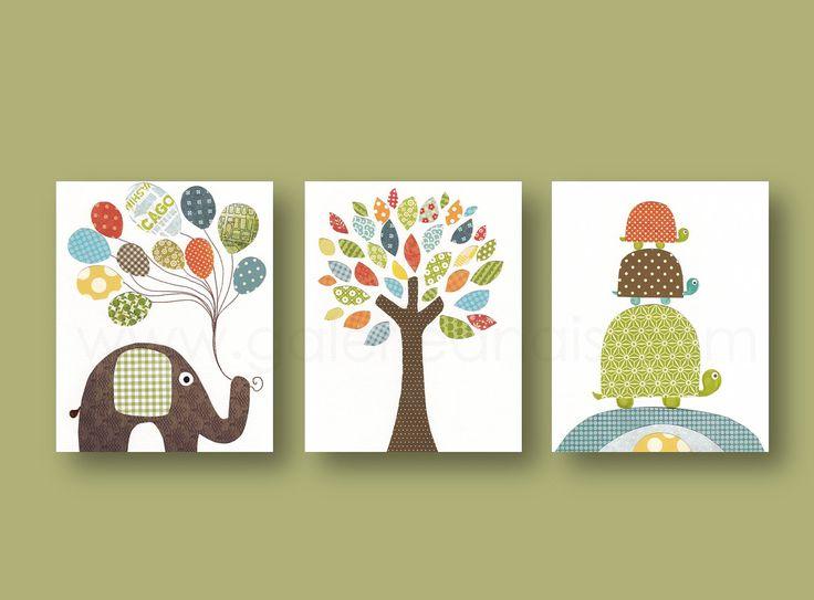 Kwekerij art prints baby jongen kwekerij decor kwekerij muur